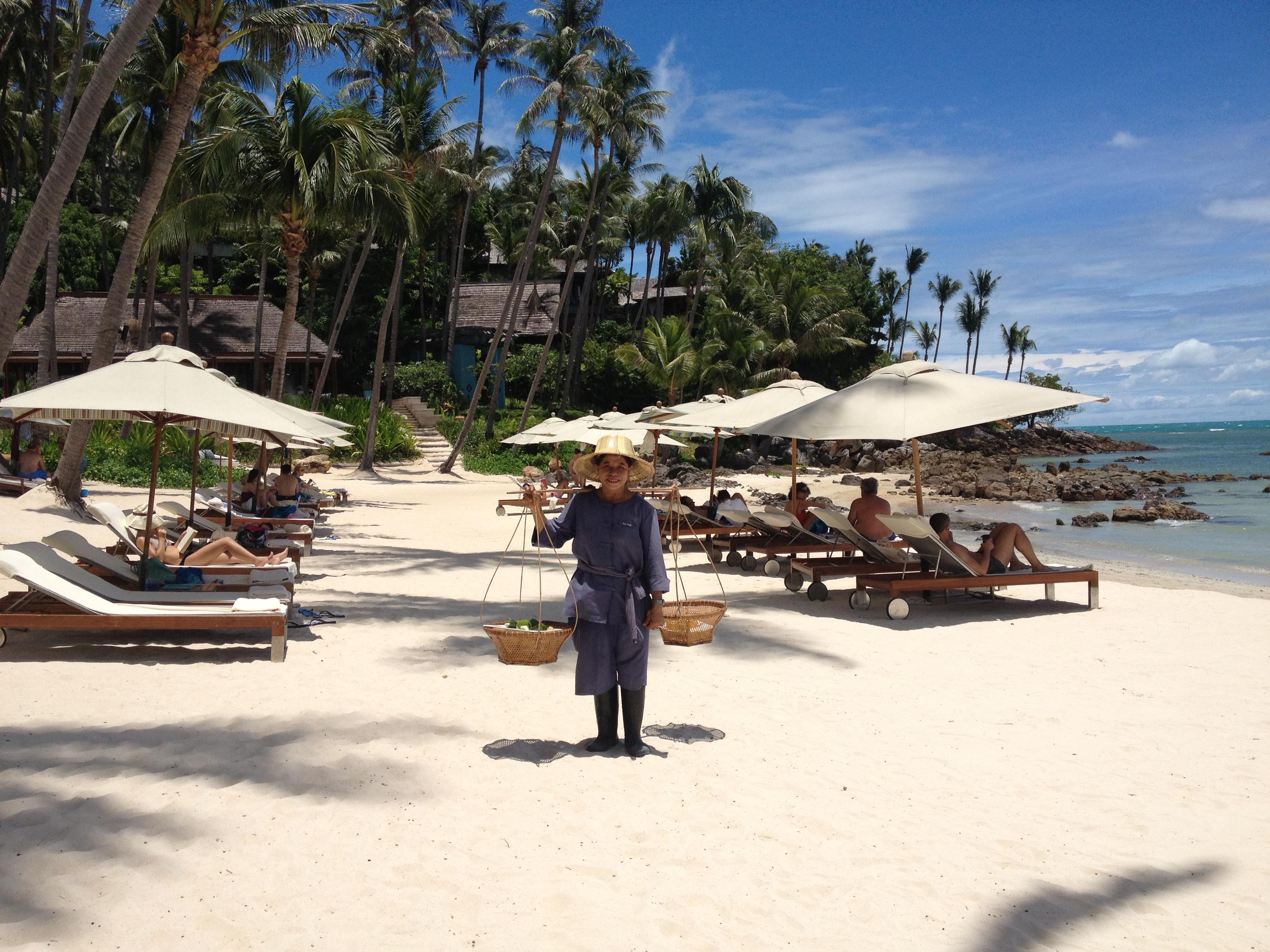 my birthday at the Four Seasons, Koh Samui, Aug  2012